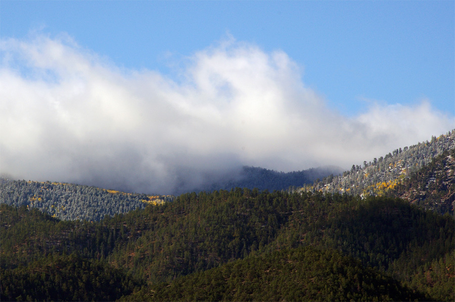 Picuris Peak in frost south of Taos, NM