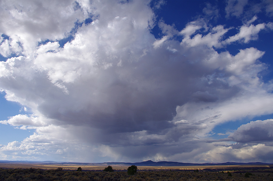 clouds over the Rio Grande Gorge at Taos Valley Overlook
