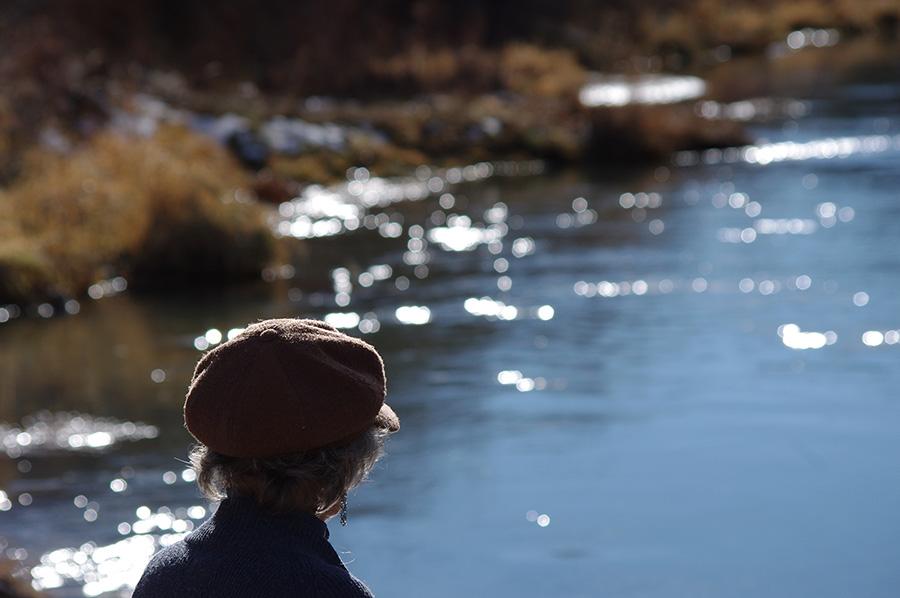 woman by the Rio Grande