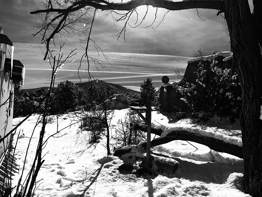 Taos snow scene