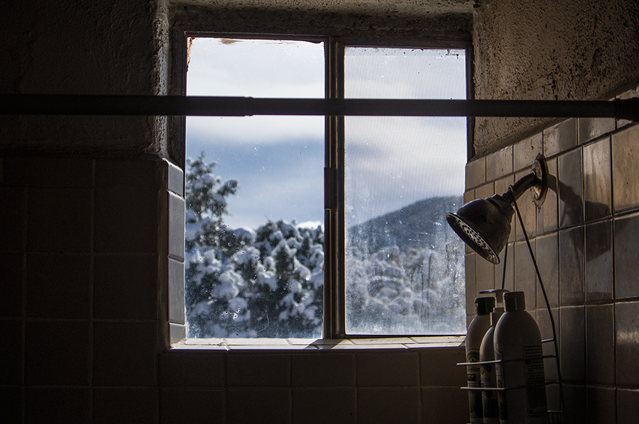 bathroom window, Llano Quemado