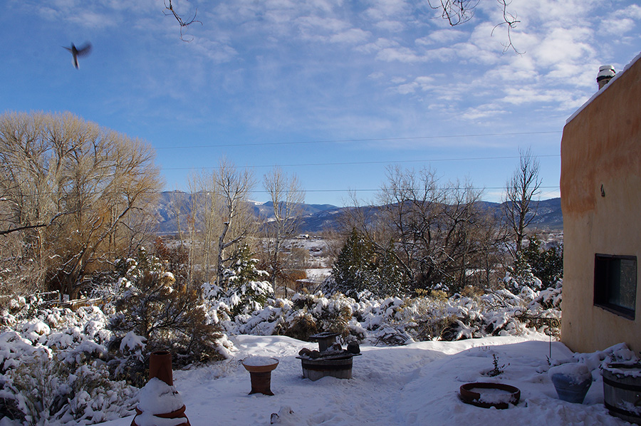 winter mountain scene from Taos, NM