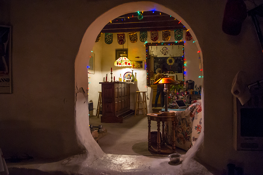 old adobe interior, Taos, NM