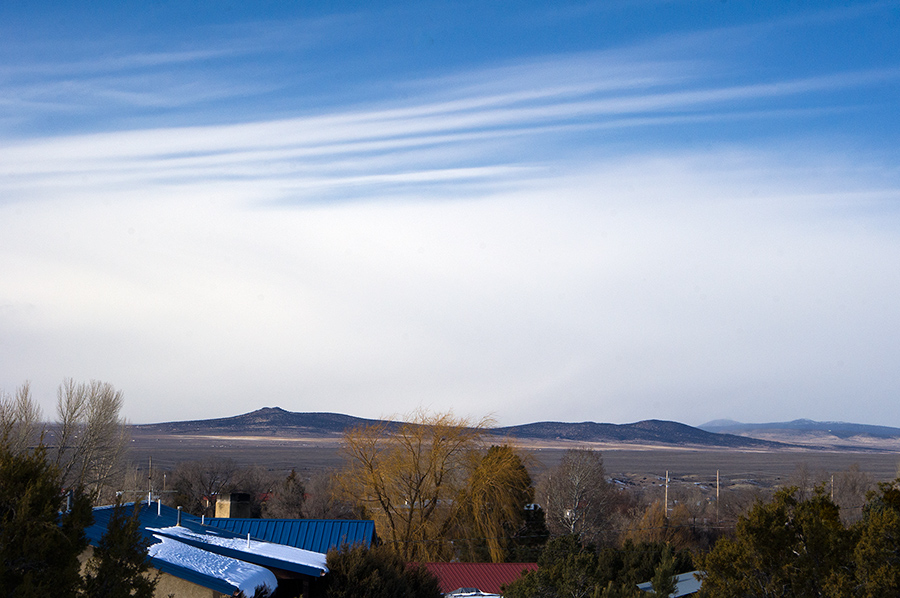 snow and clouds, Taos