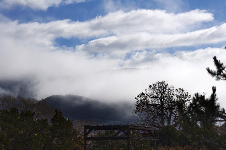 clouds over the southern end of Taos, NM