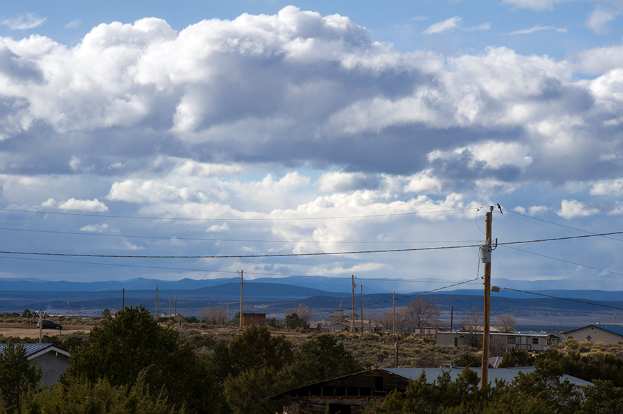 looking west from Llano Quemado