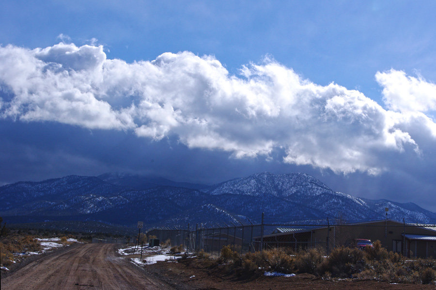 Picuris Peak in the snow south of Taos, NM