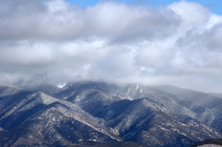 Lower slopes of Taos Mountain in the snow