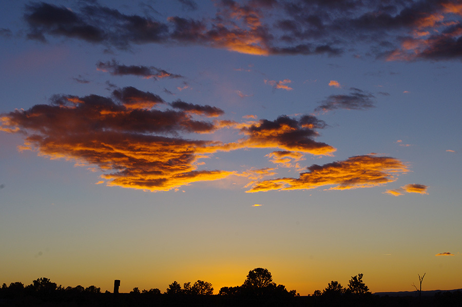 cool sunset photo from Taos