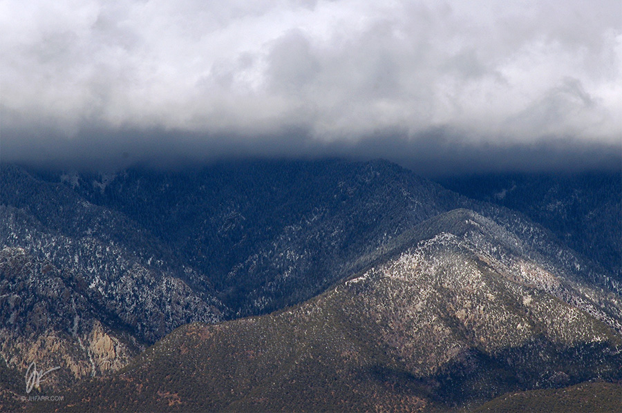 clouds and Taos Mountain