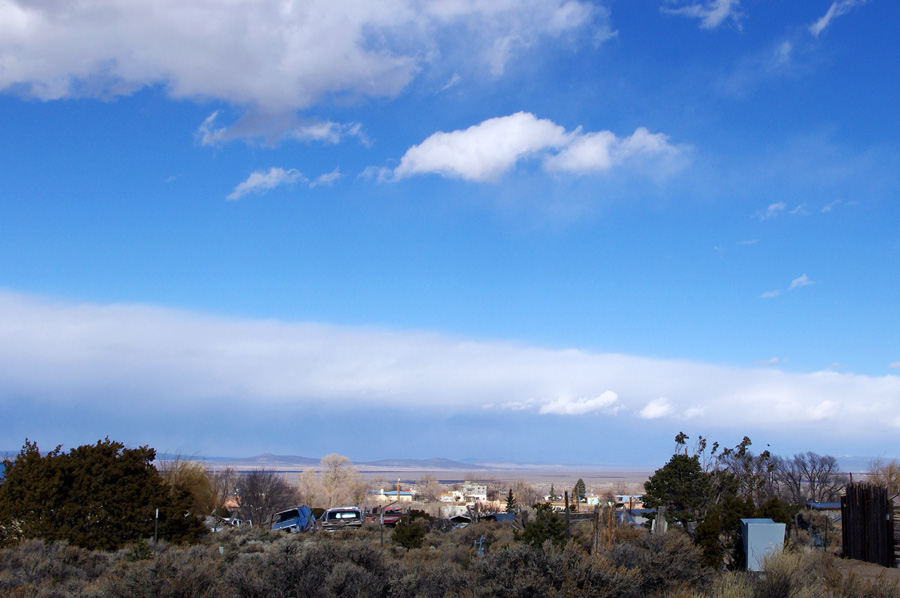 cold front approaching Taos