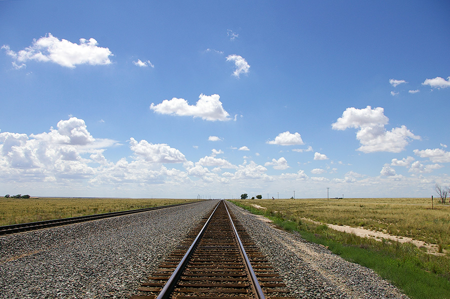 Railroad tracks in Texas