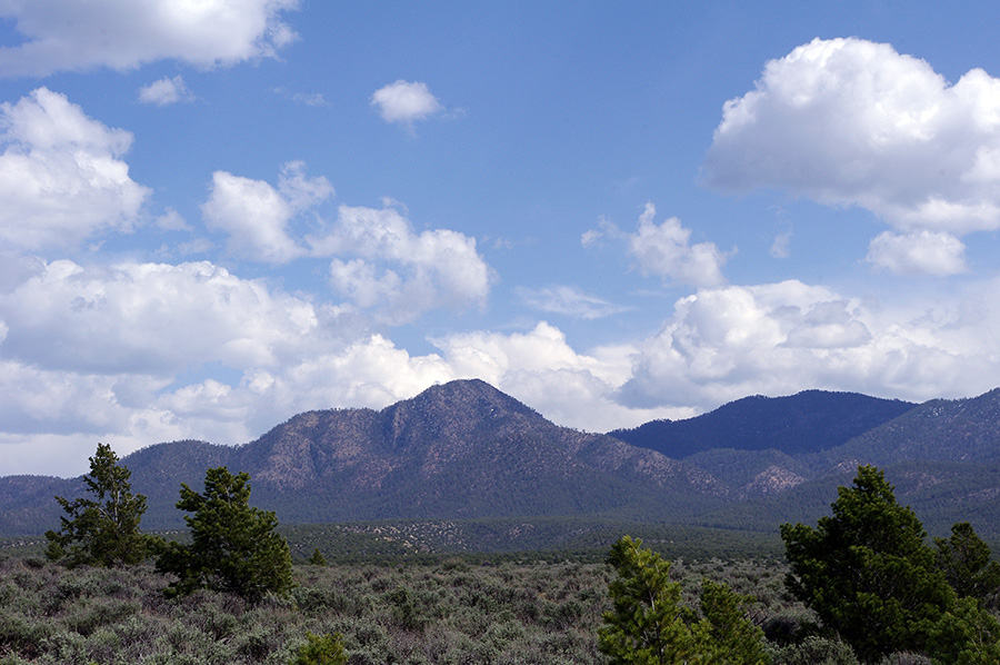 Picuris Peak (in shadow) near Taos, NM