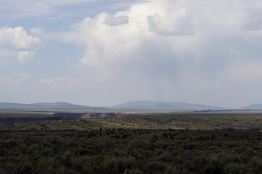 looking northwest from Taos Valley Overlook