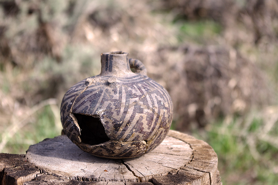 old Tewa pottery