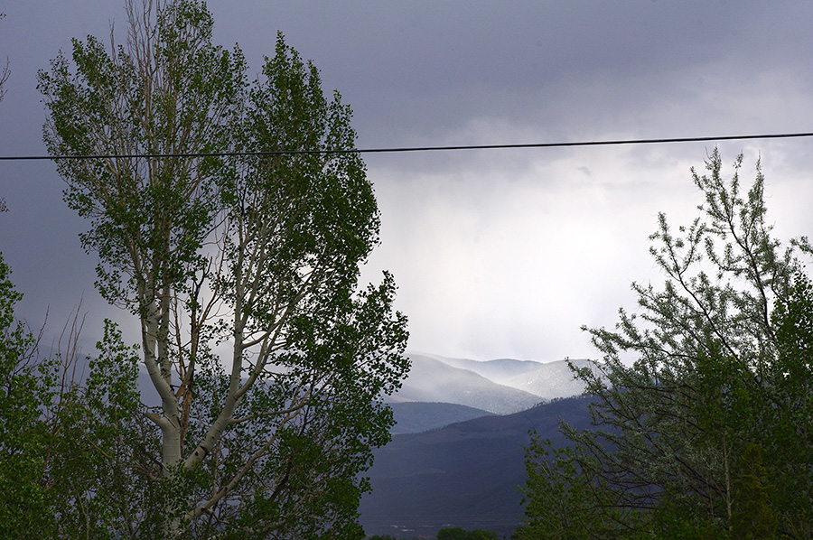 It's raining in the mountains near Taos, NM