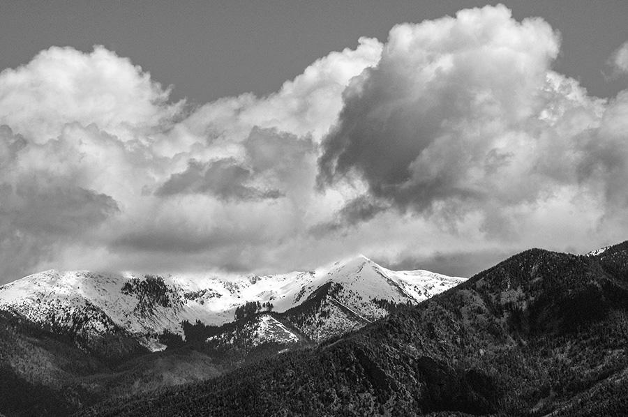 Kachina Peak in clouds