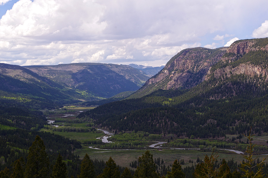 Conejos River Valley in Colorado