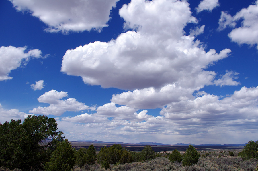 sky and clouds outside of Taos