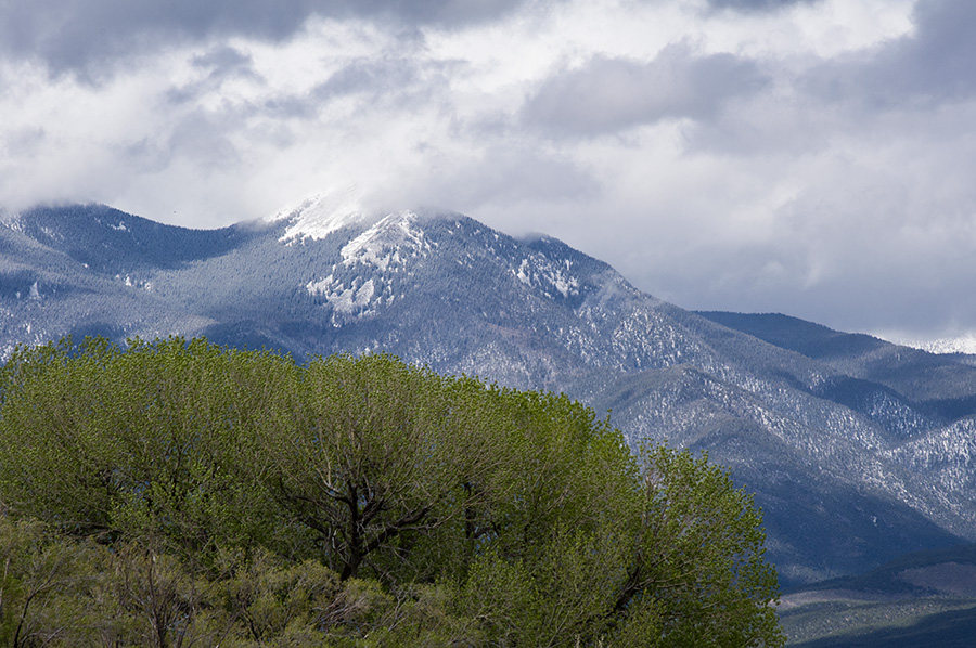 Taos Mountain in mid-spring