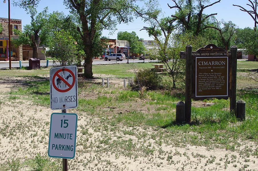 town park in Cimarron, NM