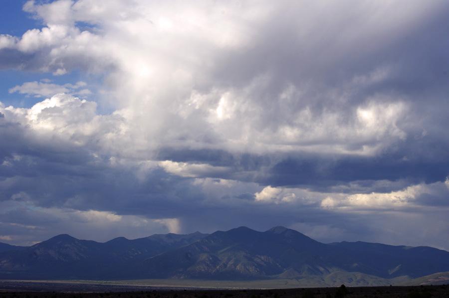 Taos Mountain with sky