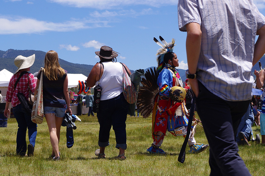 Taos Pow-wow scene