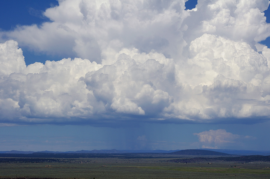 storm cloud over New Mexico