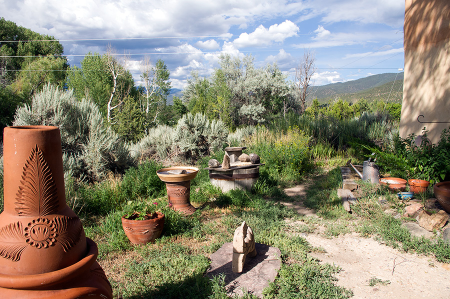 Outdoor scene in Taos, NM