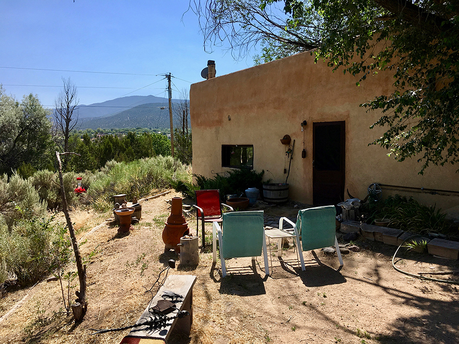 old adobe scene in Taos