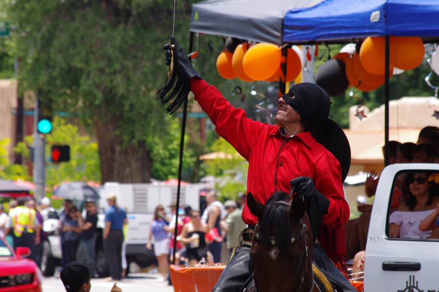 Zorro at Taos fiestas parade