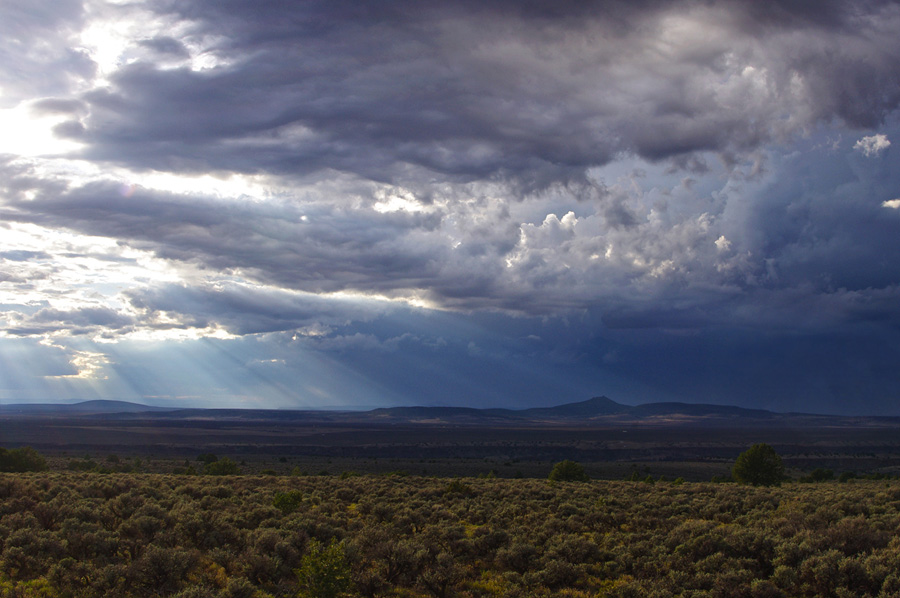 rain clouds over Taos Valley
