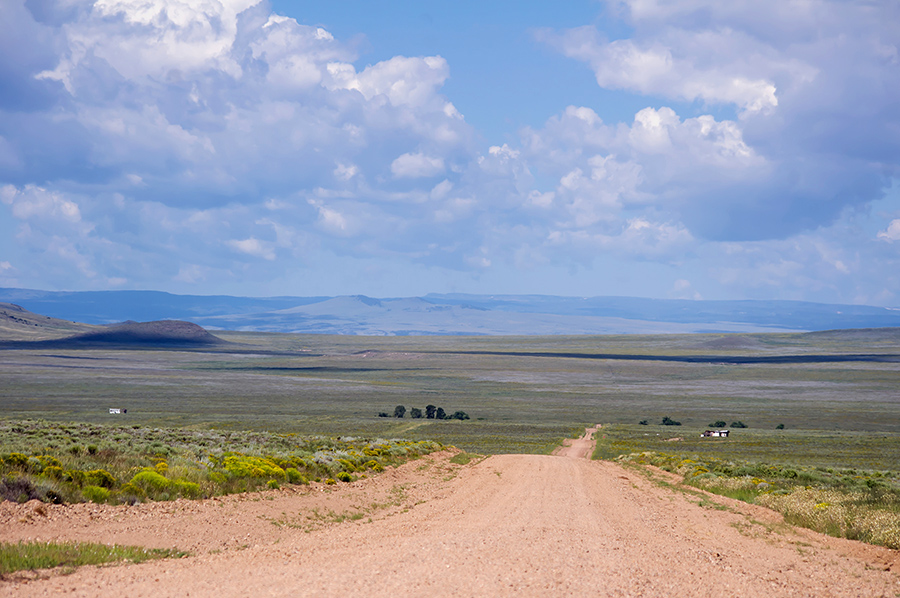 back road in Costilla County, Colorado