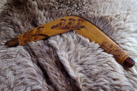 Aussie boomerang, c. 1945