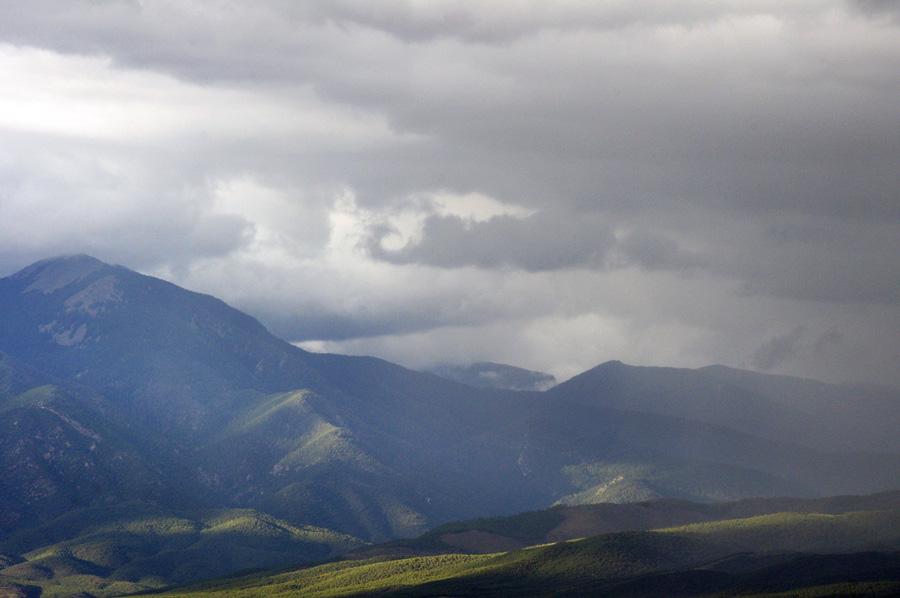 Near Taos Mountain in the rain