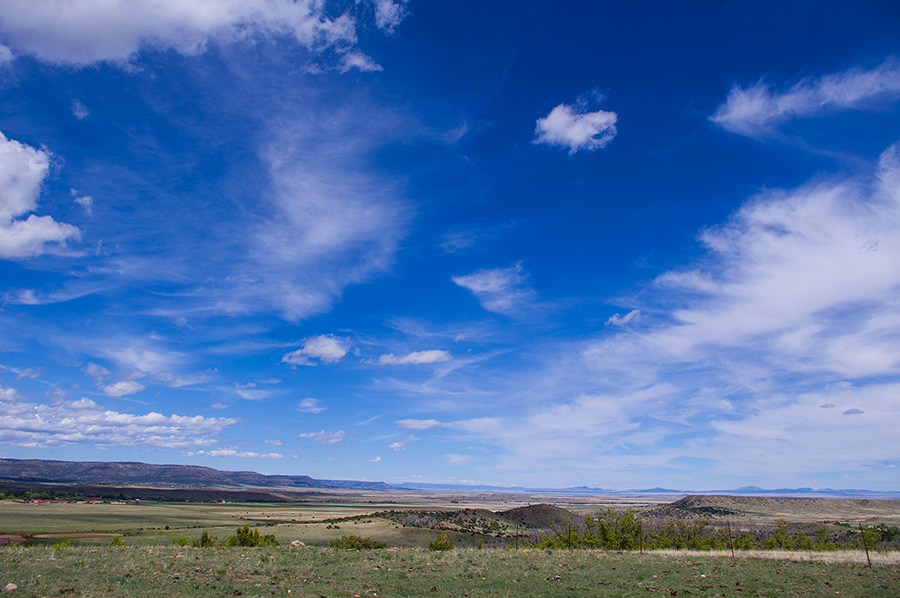 sky and prairie near Rayado, NM