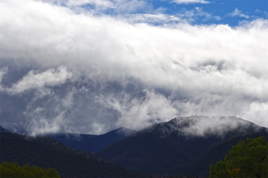 Clouds over Talpa, south of Taos.