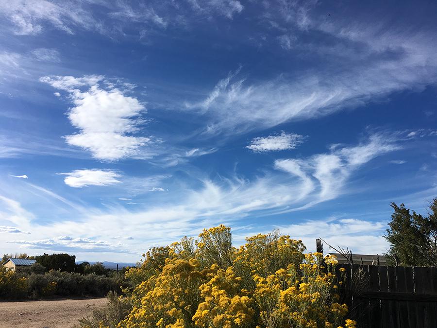 fall sky over Taos, NM