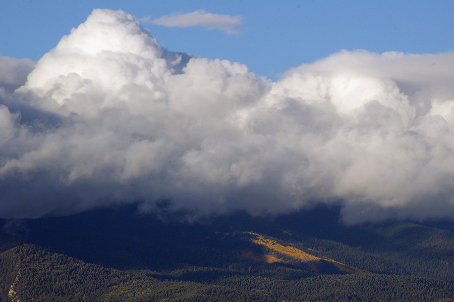clouds and mountains near Taos, NM