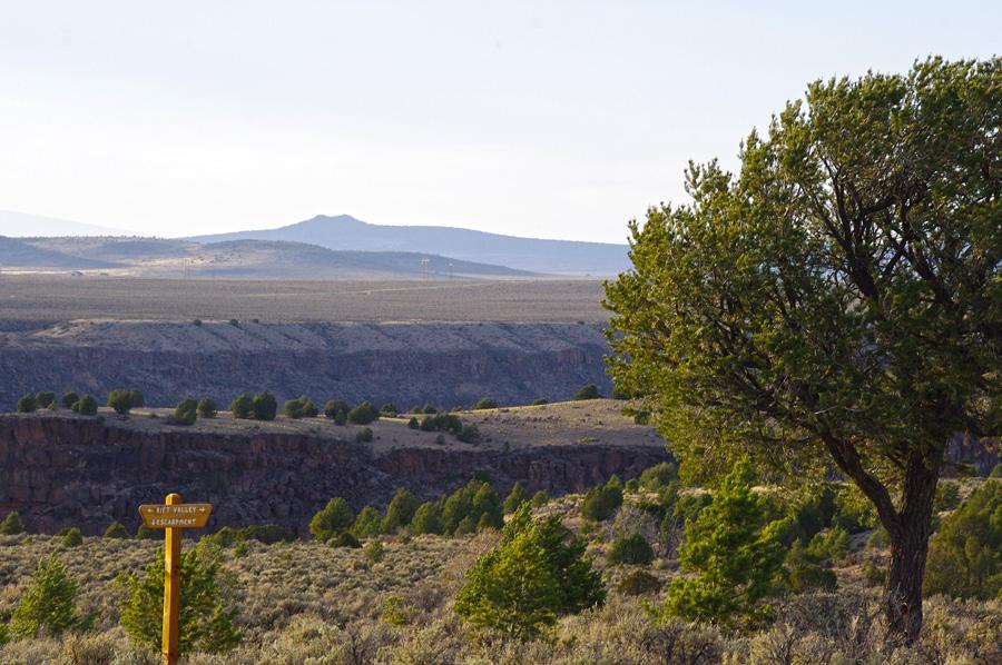 scene at Taos Valley Overlook