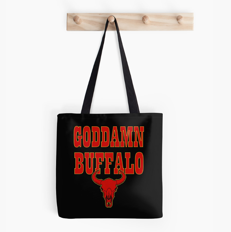 GODDAMN BUFFALO tote bag