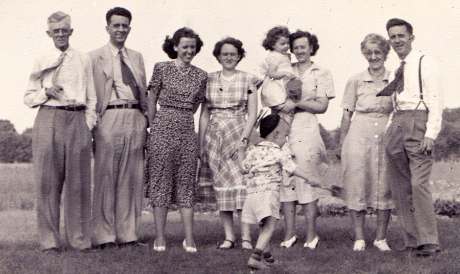 family portrait from the 1940s