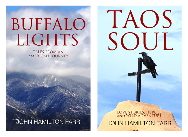 new book covers for BUFFALO LIGHTS and TAOS SOUL