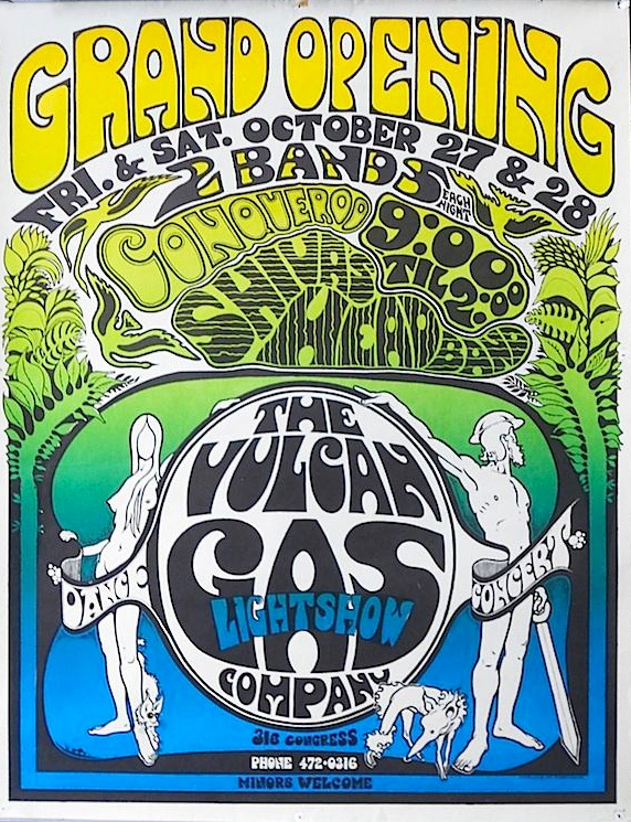 Gilbert Shelton poster for the Vulcan Gas Company