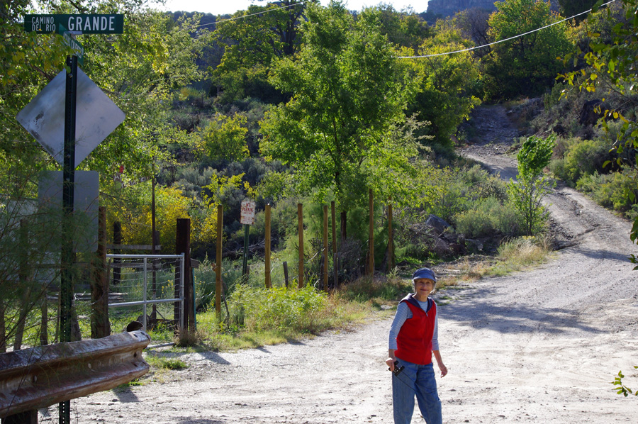beside the Rio Grande, although you don't see it here