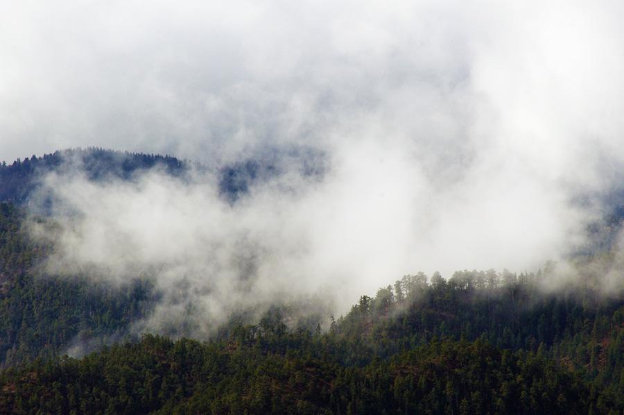Clouds at the base of Picuris Peak near Taos, NM.