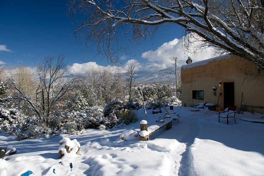 adobe in the snow