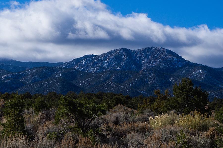 view of Picuris Peak, Taos