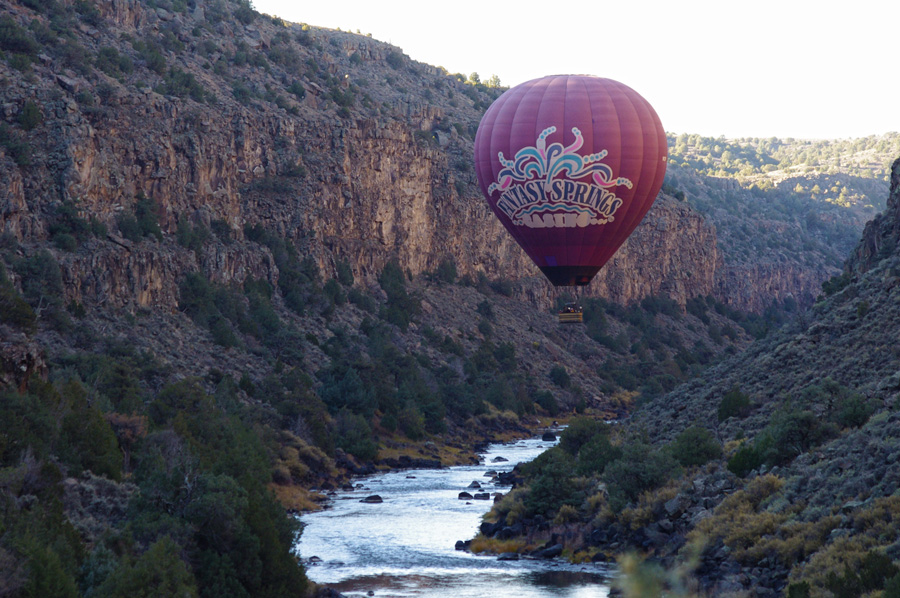 balloon in the Rio Grande Gorge