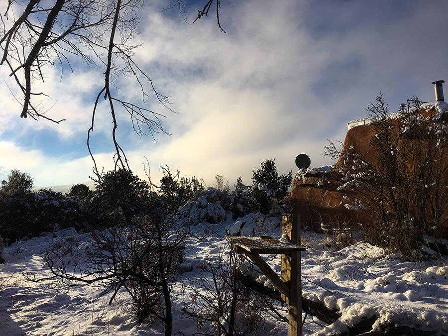Taos winter scene